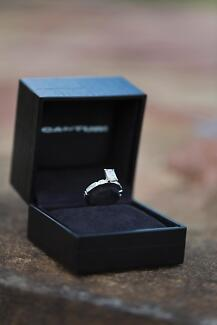 CANTURI - 18ct White Gold 1.11ct Emerald Cut Diamond Ring Toowoomba 4350 Toowoomba City Preview