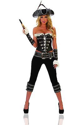 Sexy Starline Rogue Pirate Pants & Corset 4pc Costume T1073 (Rogue Corset)