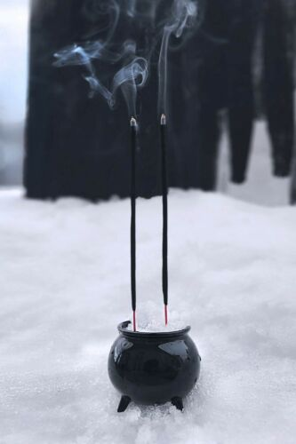Killstar Black Cauldron Incense Burner NEW Wicca Pagan Witch Halloween Decor