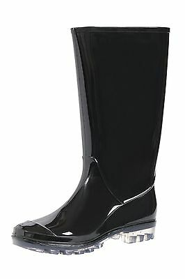 WHOLESALE Lot OF 12 prs Women's Tall black Rubber Boots Fashion Rain or Snow