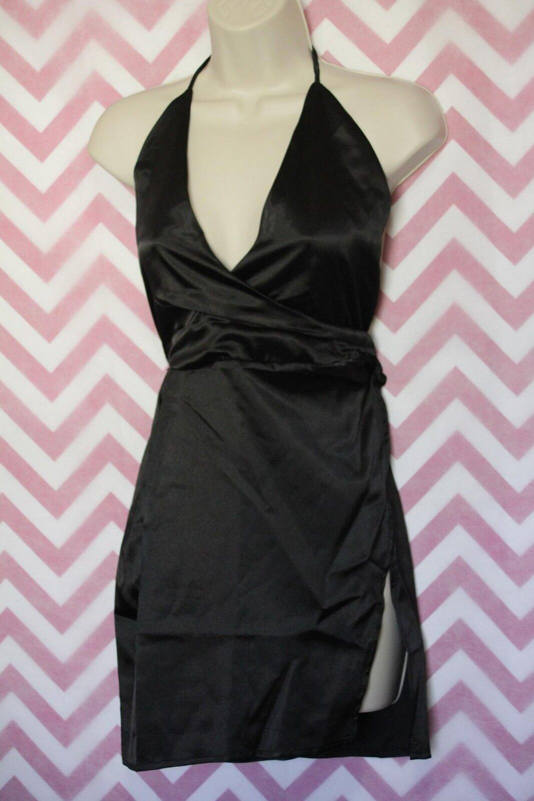 Купить Wanna This - NWT Wanna This Black Halter Dress Size XL China Runs Small Sexy Silky LBD