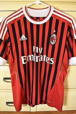ADIDAS Mens Medium AC Milan Soccer Jersey Red #10