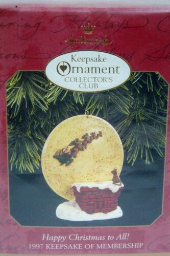 HALLMARK ORNAMENT -HAPPY CHRISTMAS TO ALL- 1997 - NIB