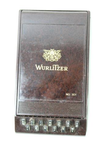 Wurlitzer Autopoint Index 301 Desk or Tabletop USA Art Deco Bakelite Songbook