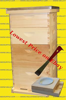 10-Frame Bee Hive w/ free feeder + Hive tool - Free Shipping