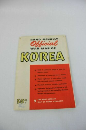 Rand McNally Official War Map of Korea Vintage