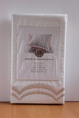 Martha Stewart Collection Trousseau Embroidered King Pillow Sham