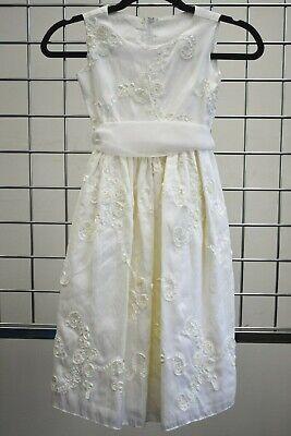 Designer Girls Dresses Sale (Designer Dimples OFF WHITE Satin Flower girls Fancy dress Size 4 On)