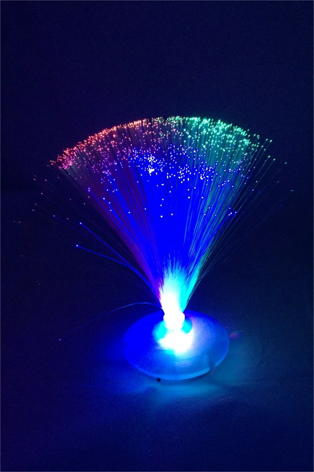 led fibre optic light changing fountain night lamp relaxing calming novelty ebay. Black Bedroom Furniture Sets. Home Design Ideas