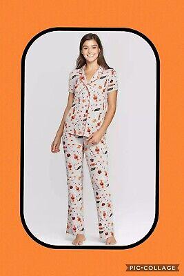 Halloween Pajamas For Women (NWT Nite Nite Munki Women's Pajamas 2 Piece Set Halloween Pants Shirt XS S M L)
