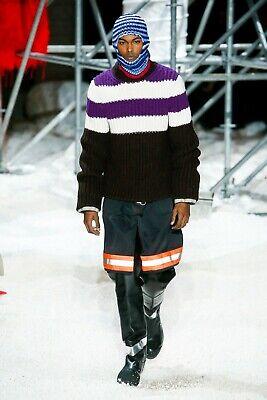 Calvin Klein 205W39NYC Horizontal Stripe Chunky Sweater Size S