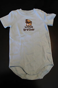 New Gymboree Boys size 18-24 Months Little Brother Onesie Shirt Pug Dog Clothing