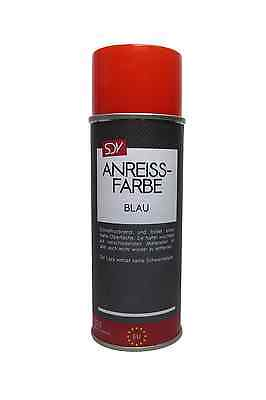 ANREISSFARBE Spray Dose 1x 400ml Blau Metall Glas Keramik Markier Anreiß Spray