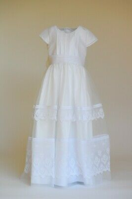 Young Girls New Unique European Off-White/ivory Communion Dress Size 12