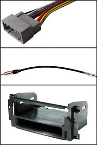 stereo radio install dash trim kit wire harness antenna adapter select chrysler