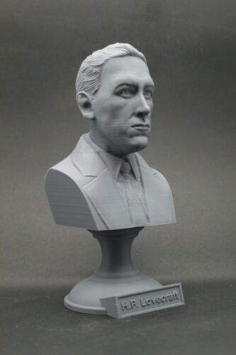 H.P. Lovecraft 5 inch Famous American Writer 3D Printed Bust Art FREE SHIPPING