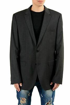 Grau Sport Coat Blazer (Hugo Boss C-james1s Herren 100 Wolle Dunkelgrau Blazer Sport Coat 44l It)