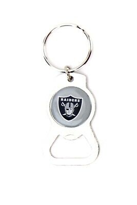Oakland Raiders Metal Keychain Bottle Opener NFL Football Licensed Product ()
