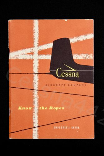 CESSNA Vintage Factory OEM 1950s EMPLOYEE GUIDE Collectable BOOK USA 65 Pages