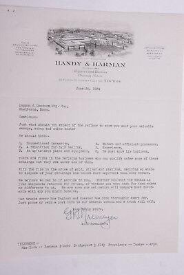 1934 Lamson Goodnow Handy Harman Refiner Dealer Metals Nyc Ephemera L263a