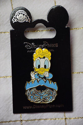 Disney TDS 2017 Not So Scary Halloween Party Donald Duck as Hades Prize Pin - Halloween Party Disneyland Paris