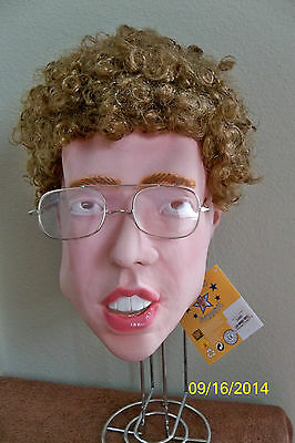 NAPOLEON DYNAMITE DELUXE MASK WITH WIG COSTUME NEW RU3490