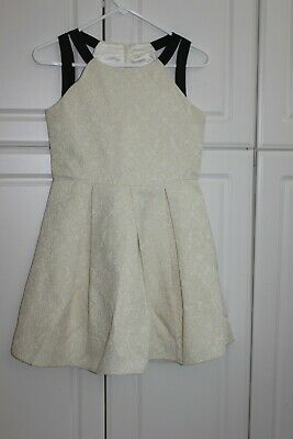 NEW TCP The CHILDRENS PLACE DRESS ivory & gold dressy 10 14  - Gold Childrens Dress