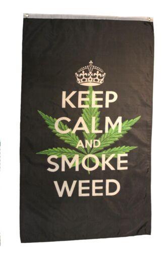 KEEP CALM AND SMOKE WEED BLACK  Large  5