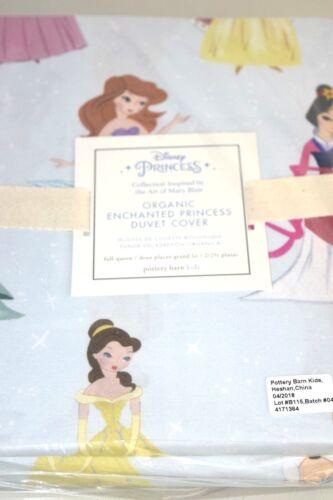 NEW Pottery Barn Organic Enchanted DISNEY Princess Duvet Cover TWIN FULL QUEEN