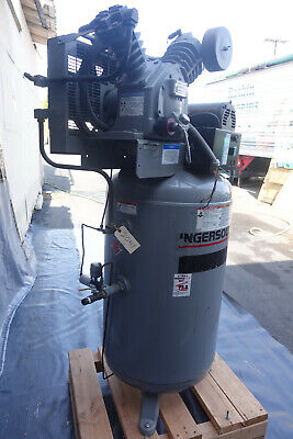 Ingersoll-rand T30 Air Compressor 7.5 Hp 80 Gallon Vertical Tank 200 Psi