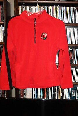 Ohio State Buckeyes Bellepointe Red Fleece zip front Jacket Ladies M (b155) ()