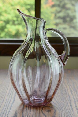 """Blenko Art Glass #991 Rose or Lavender 12 1/2"""" Pitcher"""