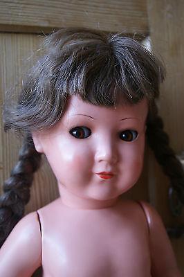 ORIGINAL Schildkröt Puppe mit Echthaar
