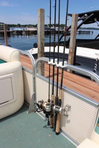 White, Portable Pontoon Fishing Rod Holder Quick Grab!