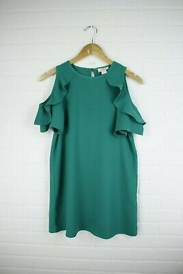 Kate Spade NY Girls Ruffle Sleeved Emerald Green Collar Dress Size 10 NWT Girls Emerald Green