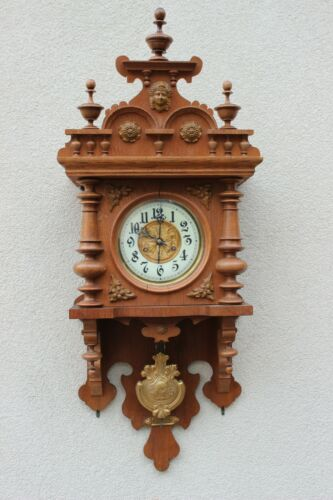 Light Oak Junghans spring driven wall clock 1906