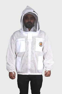 3 Layer Ventilated Beekeeping Jacket Bee Vented Jacket Zipper Sting Free Jacket