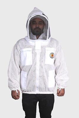 Beekeeping Jacket 3 Layer Ventilated Beekeeper Jacket Zipper Sting Free Jacket