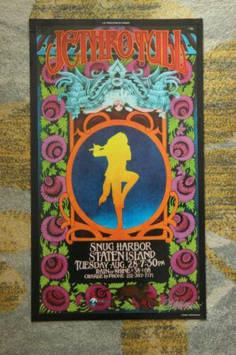 Jethro Tull Snug Harbor Staten Island Aug 28 Bob Masse SIGNED Concert Poster