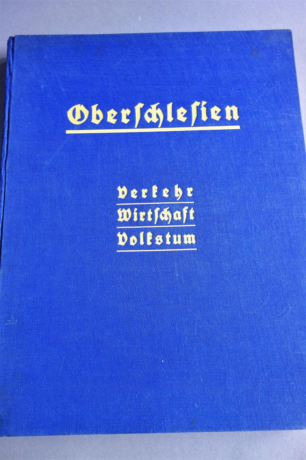 Oberschlesien - Verkehr Wirtschaft Volkstum 1935 Heimatkunde Gleiwitz Oppeln
