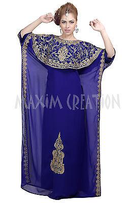 BEAUTIFUL MODERN ABAYA FANCY JILBAB ARABIAN KAFTAN WEDDING GOWN DRESS 6055