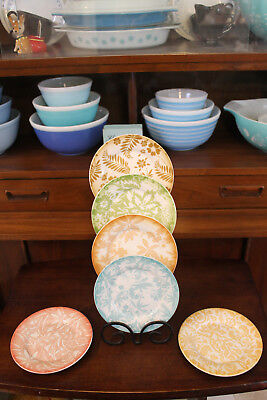 Tropical Plates (Tommy Bahama 2008 Beautiful Hawaiin Hawaii Tropical Colorful Ceramic Plates)