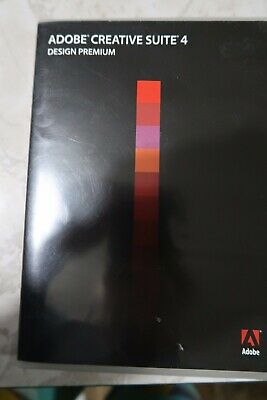 Adobe Creative Suite 4 Design Premium 4 Discs Mac Serial Number Retail 2008