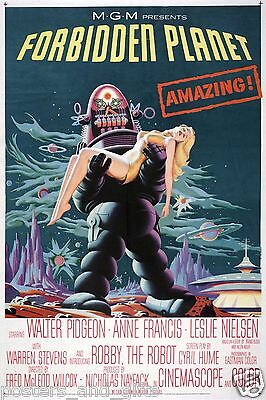 Vintage Science Fiction Movie Poster Forbidden Planet ()