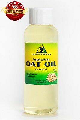 OAT OIL ORGANIC CARRIER COLD PRESSED by H&B Oils Center NATURAL 100% PURE 2 OZ 100% Natural Oats