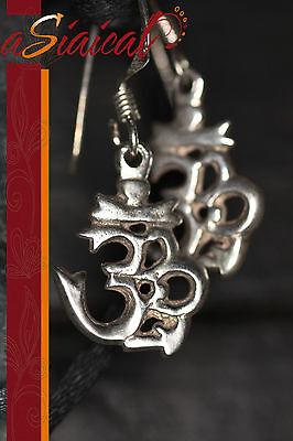 OM AUM  925-SILBER Ohrringe OHRSCHMUCK Ohrhänger Buddha Dalai Tibet Schmuck