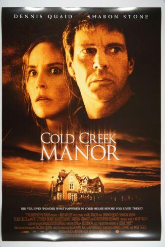 COLD CREEK MANOR 27x40 Original DS RARE Mint Movie Poster 2003 S. STONE D. QUAID