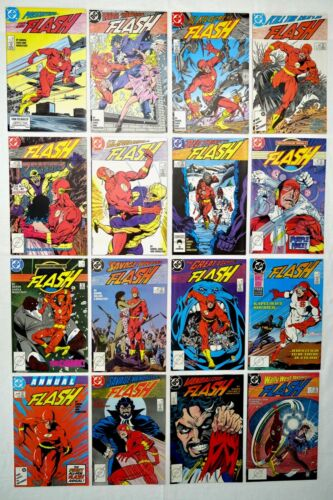 The Flash #1-15 & Annual #1 (DC Comics Lot 1987-1988 v2) Wally West - SHIPS FREE