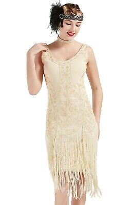 1920s Flapper Dress Great Gatsby Costume Dress Fringed Embellished Dress