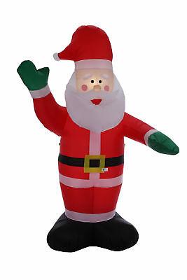 Homegear 8 ft Christmas Inflatable Santa Claus Air Blown Yard Decoration - Yard Inflatable Decorations